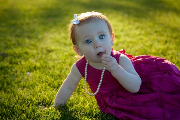 Granddaughter Isabella just before she turned one