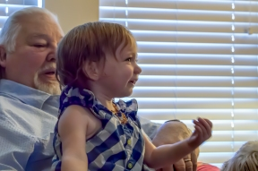 Great Grandpa and Isabella meet