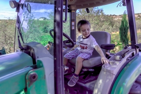 Our Grandson Emmett at Alcantara Vineyards
