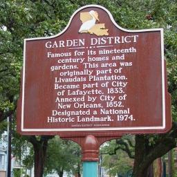 Garden District Sign 1