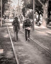 Saint Charles St Streetcar Tracks