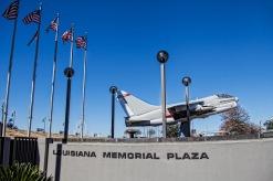 Corsair II Jet at the Louisiana Memorial Plaza
