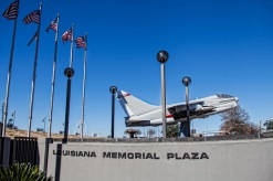 Corsair II Jet at the Louisiana Memorial Plaza