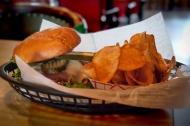 Sidewinders' Pastrami Burger