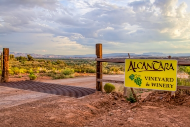 1) Entrance to Alcantara Vineyard - near Cottonwood, AZ
