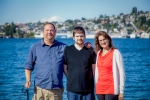Greg, Will and Mary Gilstrap at Lake Union (after graduation)