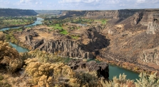 8) Overlooking the Snake River & Blue Lakes Country Club - at Twin Falls, ID Visitor Center